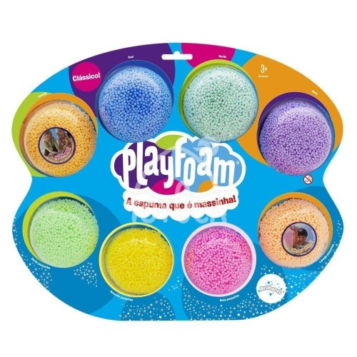 MASSA FOAM DE MODELAR PLAYFOAM JUMBO 8PCS