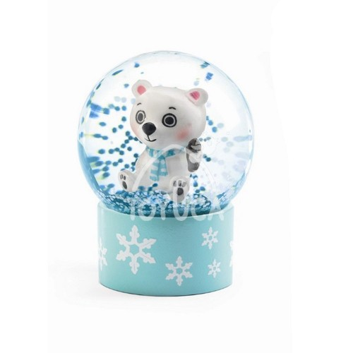 MINI GLOBO DE NEVE DIVERTIDO URSO POLAR